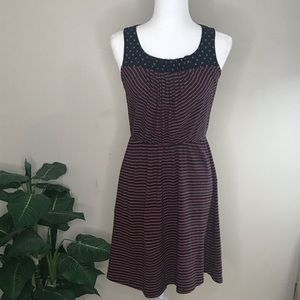 Maison Jules Denim and Red Stripped Dress